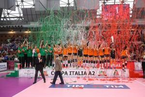 IL PODIO DI FORLI VOLLEY 2002 FORLI - VOLLEY SOVERATO FINALE COPPA ITALIA A2-F 2015 - 2016 RAVENNA 20-03-2016 FOTO FILIPPO RUBIN / LVF
